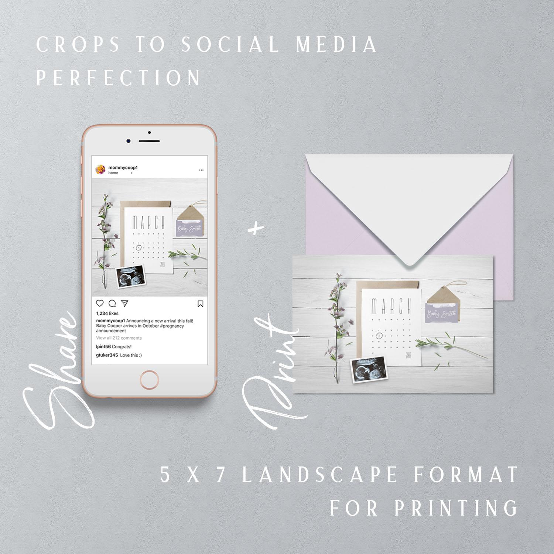 Social media Digital pregnancy announcement insta design studio