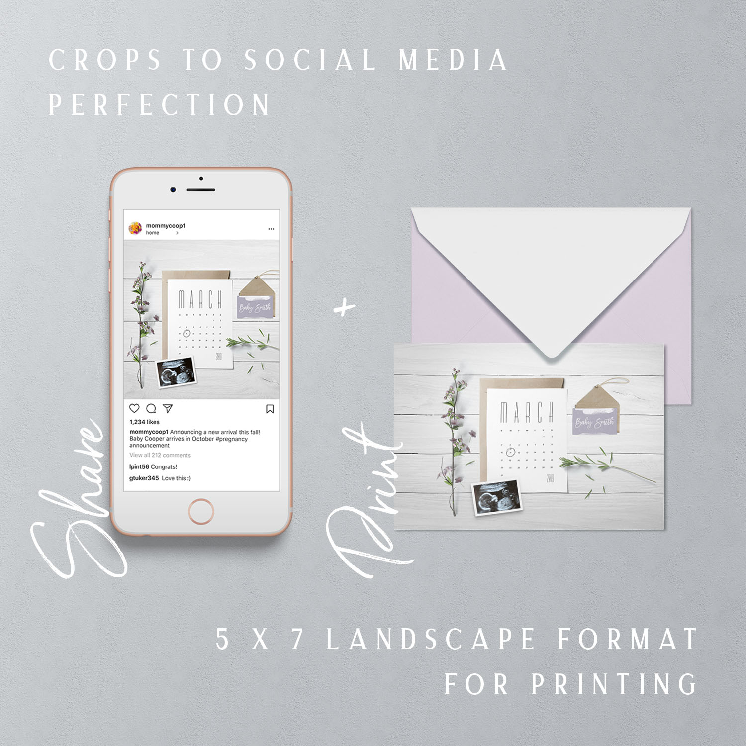 Insta design studio Social media pregnancy announcement