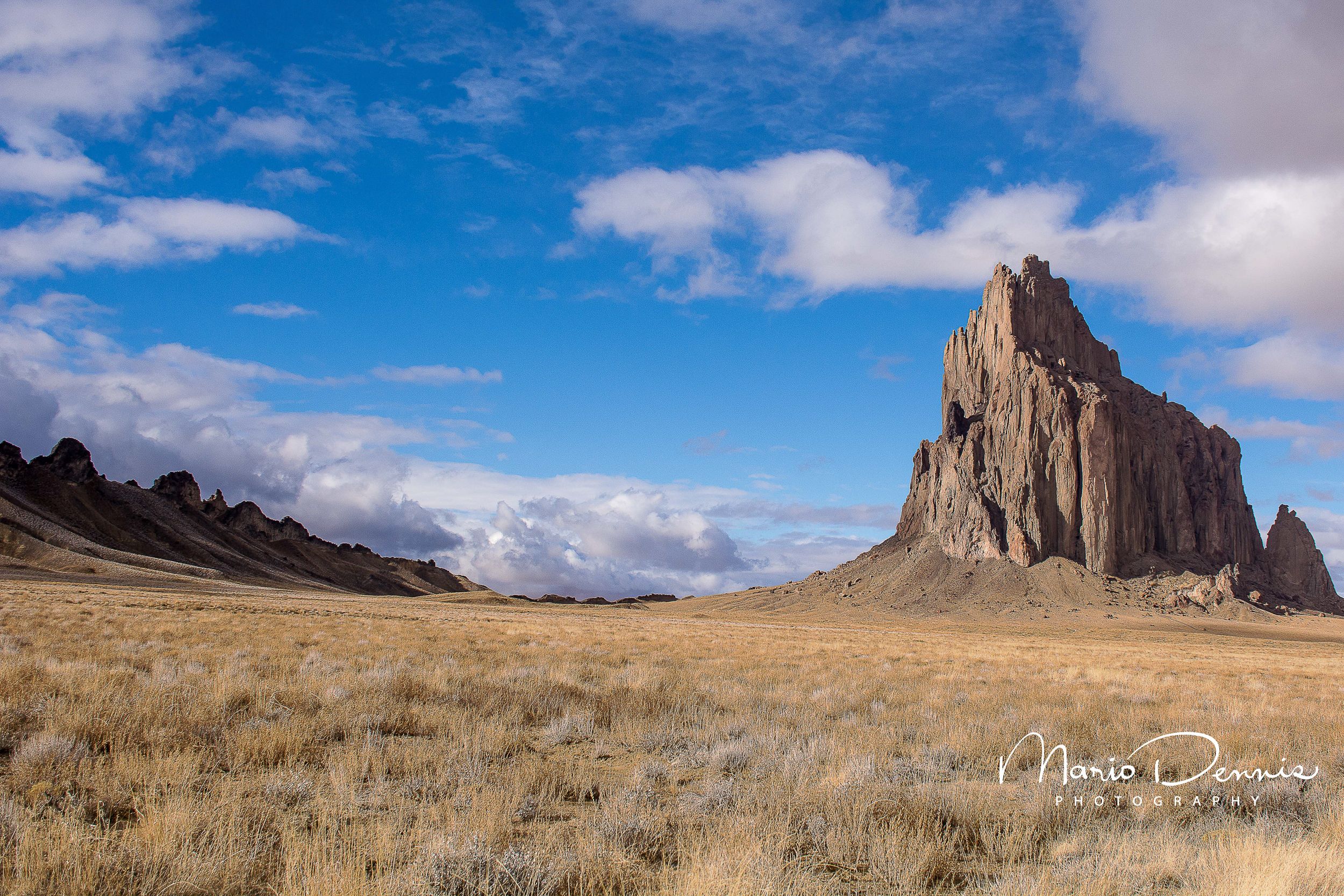 Shiprock, late afternoon.
