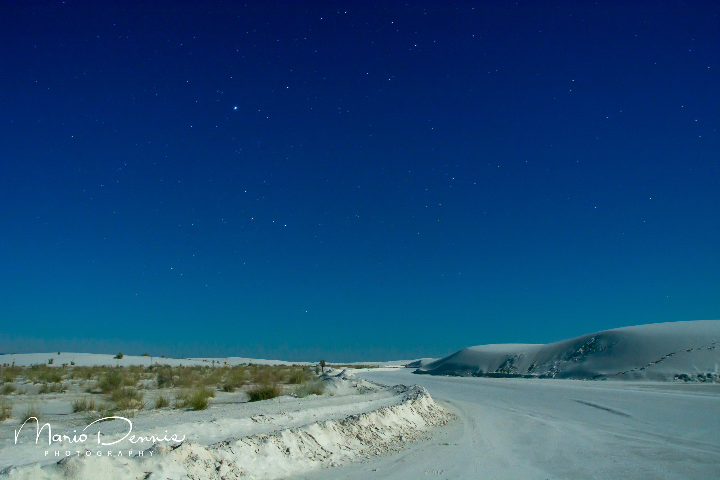 White Sands National Monument Under the Full Moon