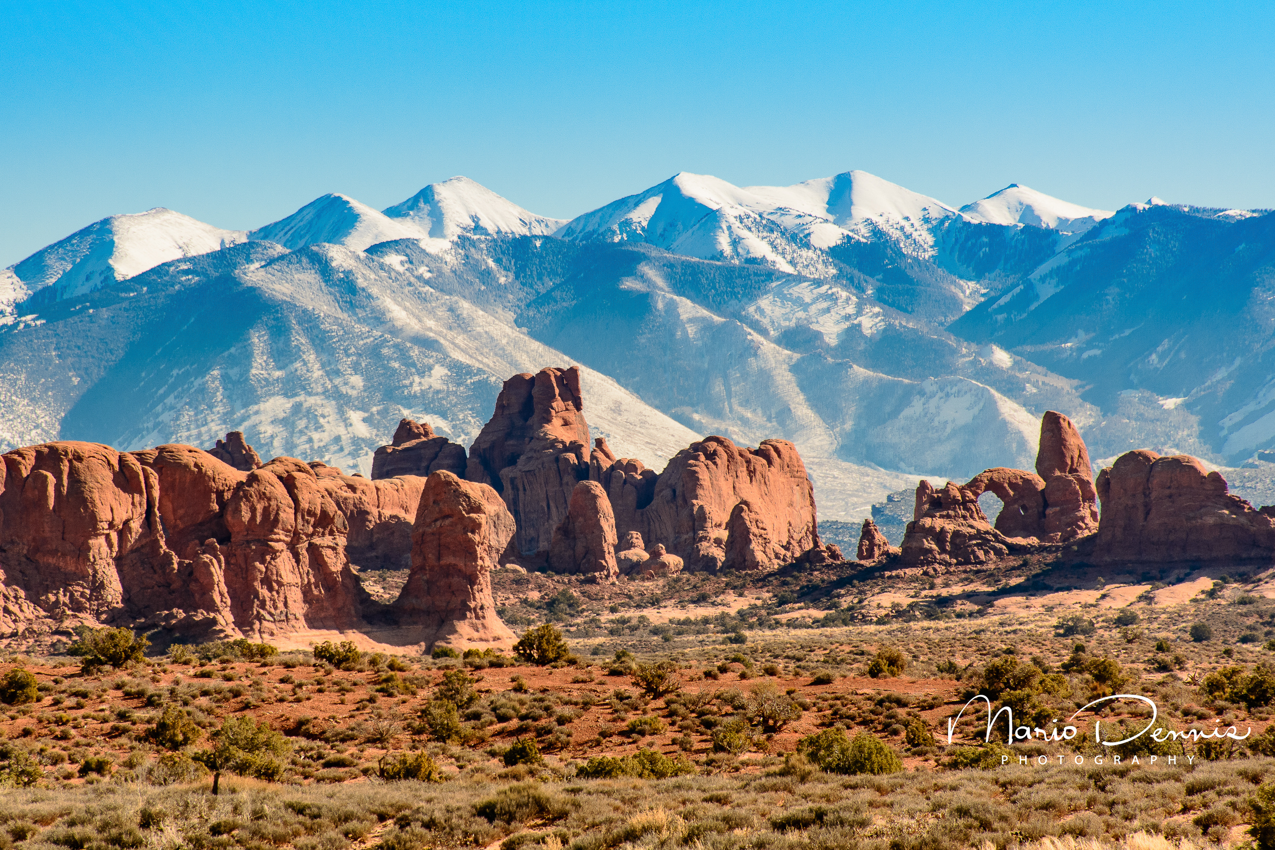 La Sal Mountains from Arches NP -