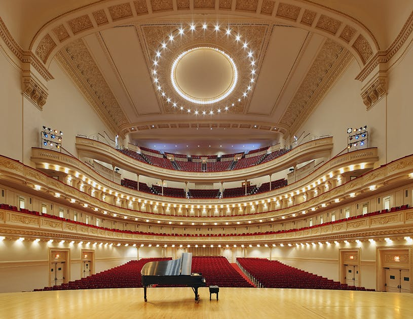 Stern Auditorium at Carnegie Hall in New York City
