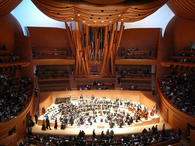 Walt disney concert hall in los angeles, california, home of the la philharmonic