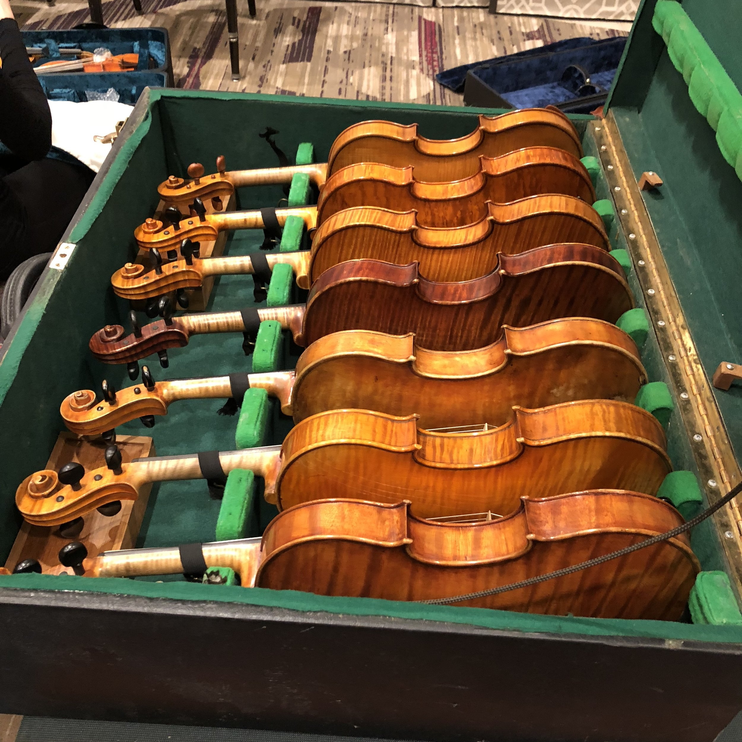 David Bromberg's Collection of American Violins on Display at the Violin Society of America (VSA) Convention in Washington DC in November 2017.