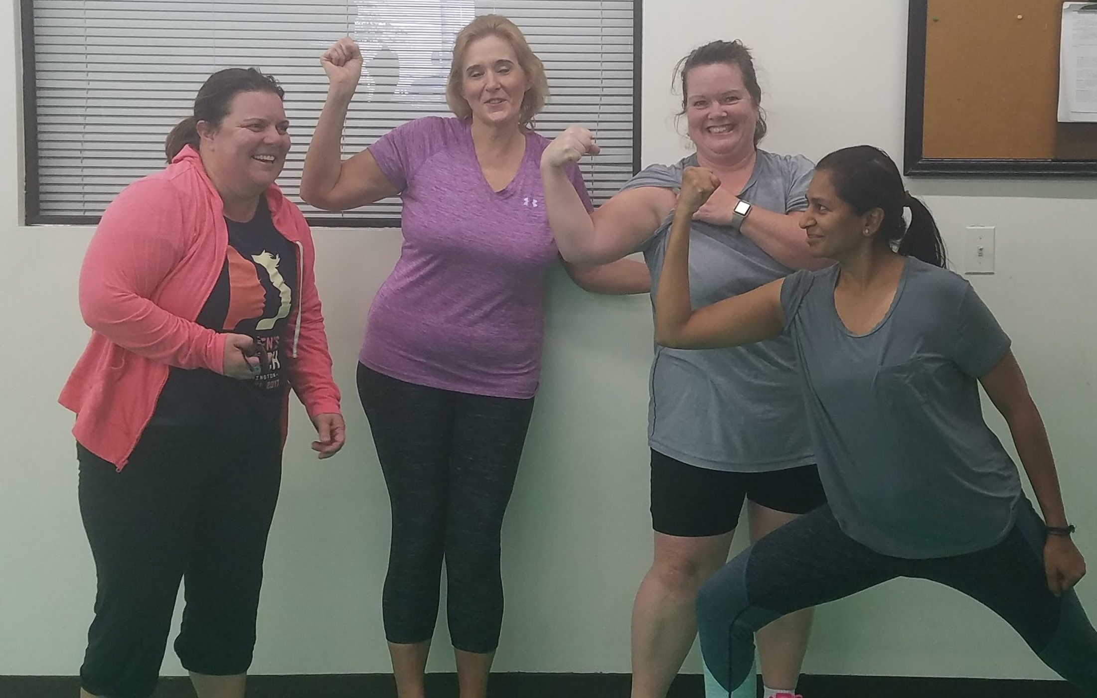 Group Support showing our toned biceps!