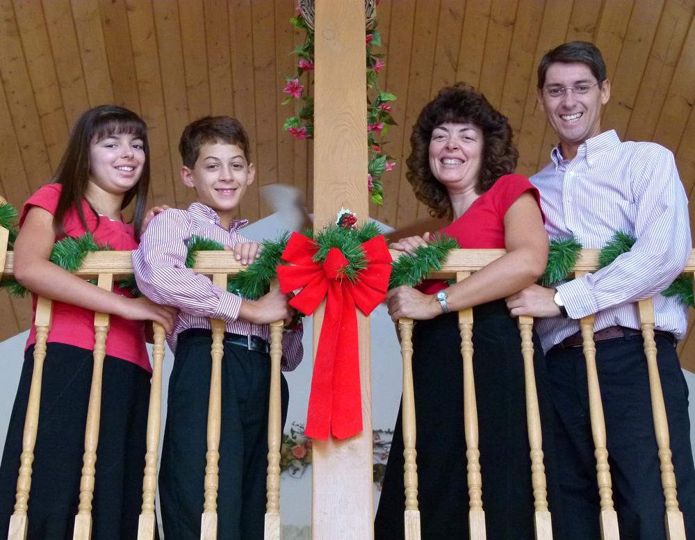 The Rayne Family in  2011, Hannah 12, Caleb 10