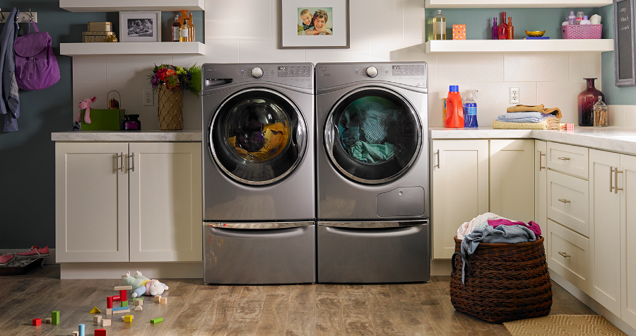 WHIRLPOOL   Washers and dryers to tackle any messes. Built-in water faucets, Load & Go™ dispensers, Smart All-In-One Washer & Dryer. Whirlpool has laundry appliances to keep up with any lifestyle.