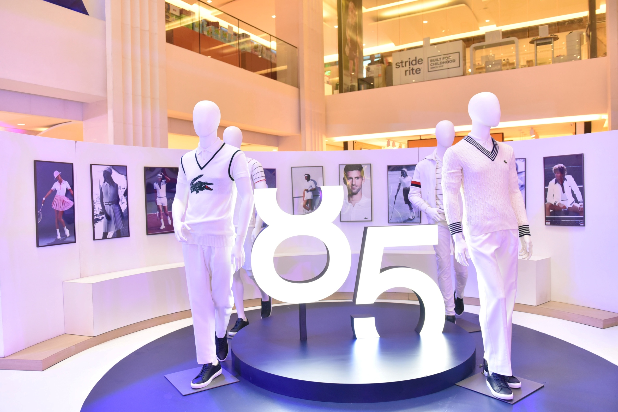 LACOSTE has created an exclusive experience to celebrate its 85th anniversary, through a pop-up exhibition in Central Square, which showcased the 85th anniversary capsule collection, the story of René Lacoste, and the evolution of the famous L.12.12 polo shirt through eight decades