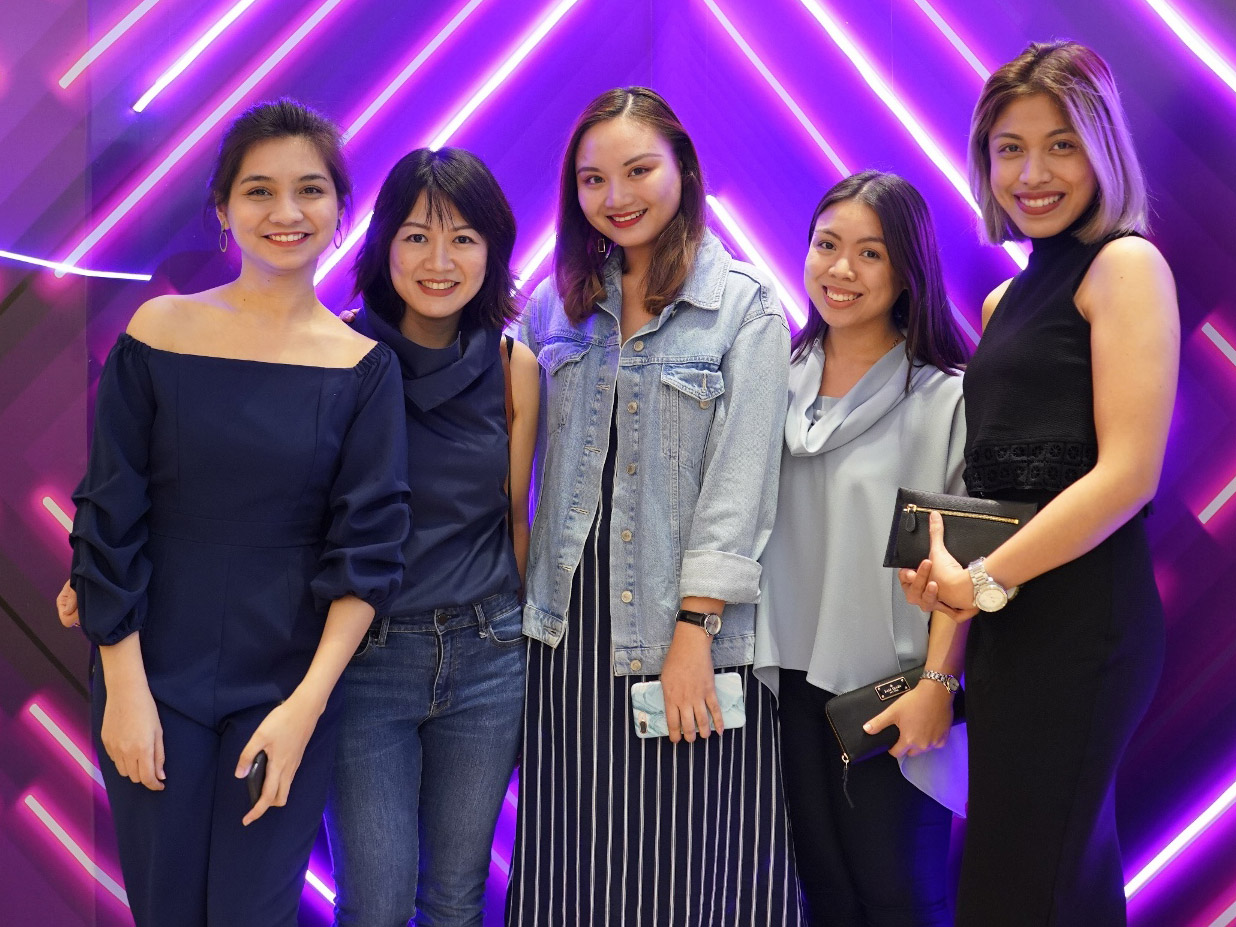 Longchamp Philippines' Merchandise Assistant Patrice Salas and Brand Manager Karina Vera, and SSI's Jam Tan, Bea Dayrit, and Jesse Villamil