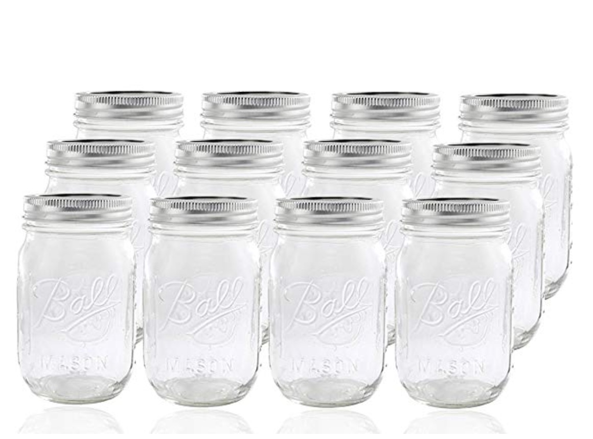MASON DRINKING/SALAD JARS - you can likely re-use jars you already have!