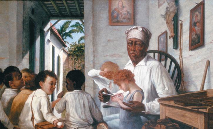 La escuela del maestro Cordero  (1890-92), Francisco Oller, National Portrait Gallery, Washington D.C.