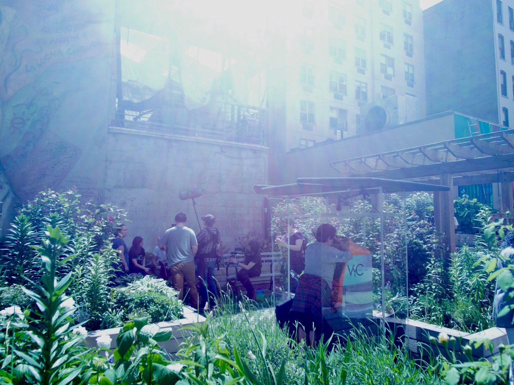 VyC in Carmen Pabon Garden,                         LES.jpg