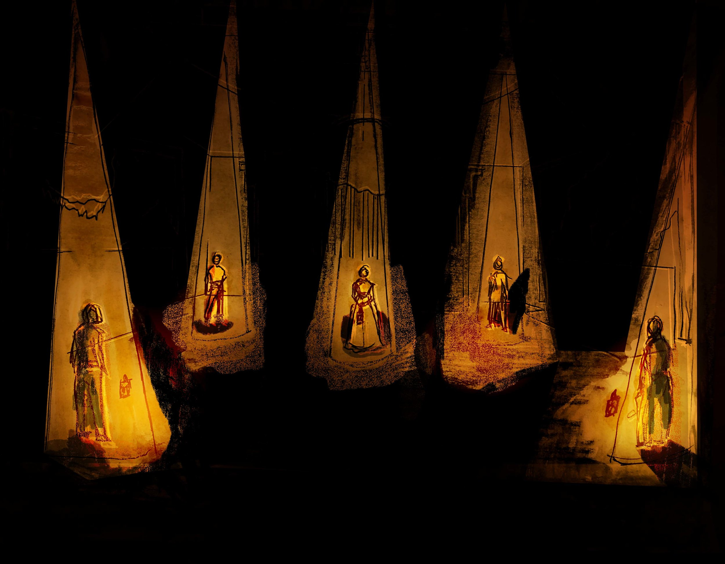 Light rendering for  The Survivors , Scenic Design by E. S. Lavespere