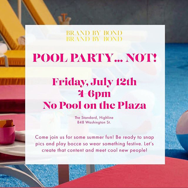 Plans for your next Summer Friday! Come join me at the Standard's No Pool on the plaza for a festive afternoon of color and content creation!!! Bring anyone!!! #summertime #summerfriday #nopool #poolparty #tikitime #pop #popart #contentcreation #branding