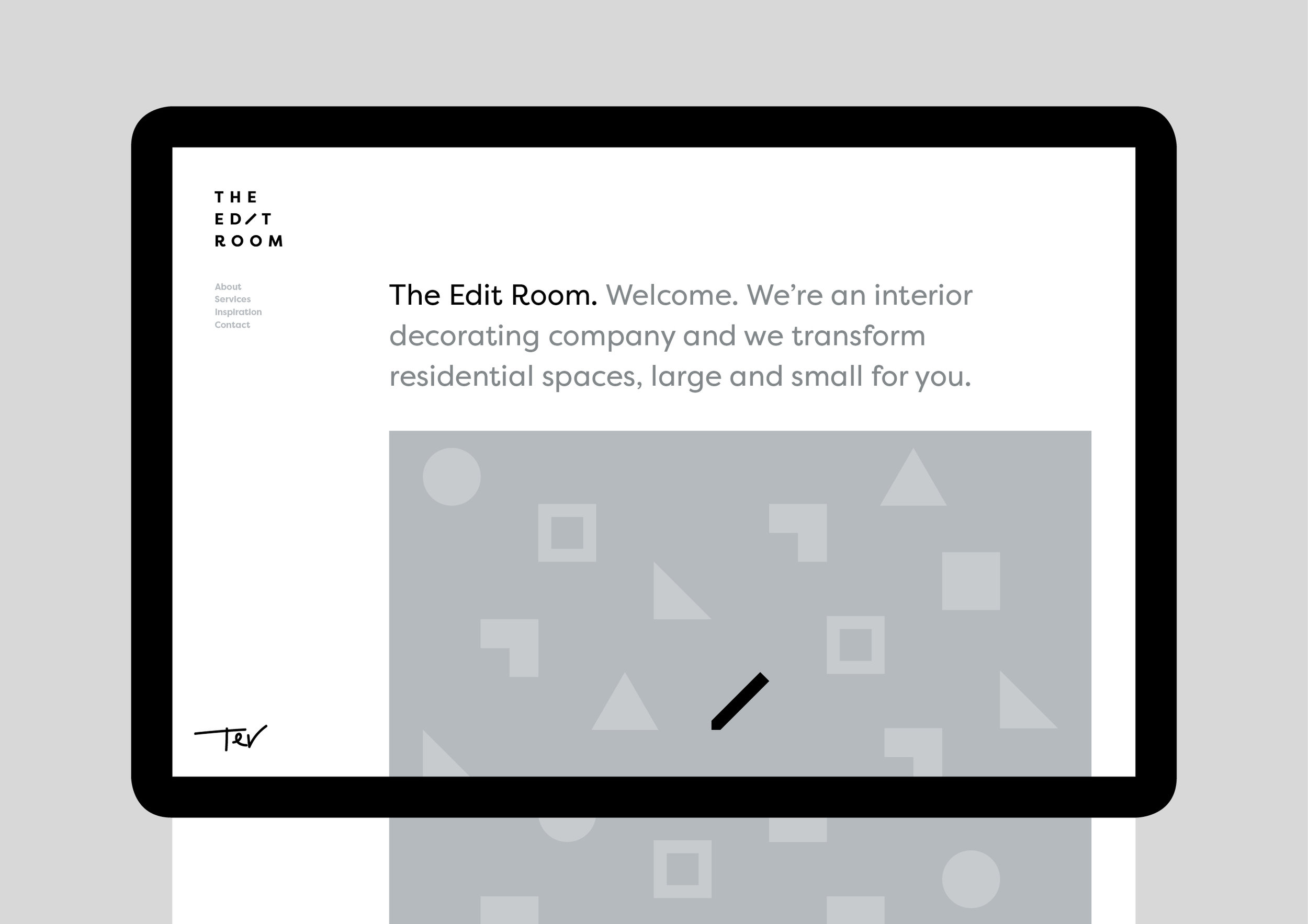 The Edit Room website