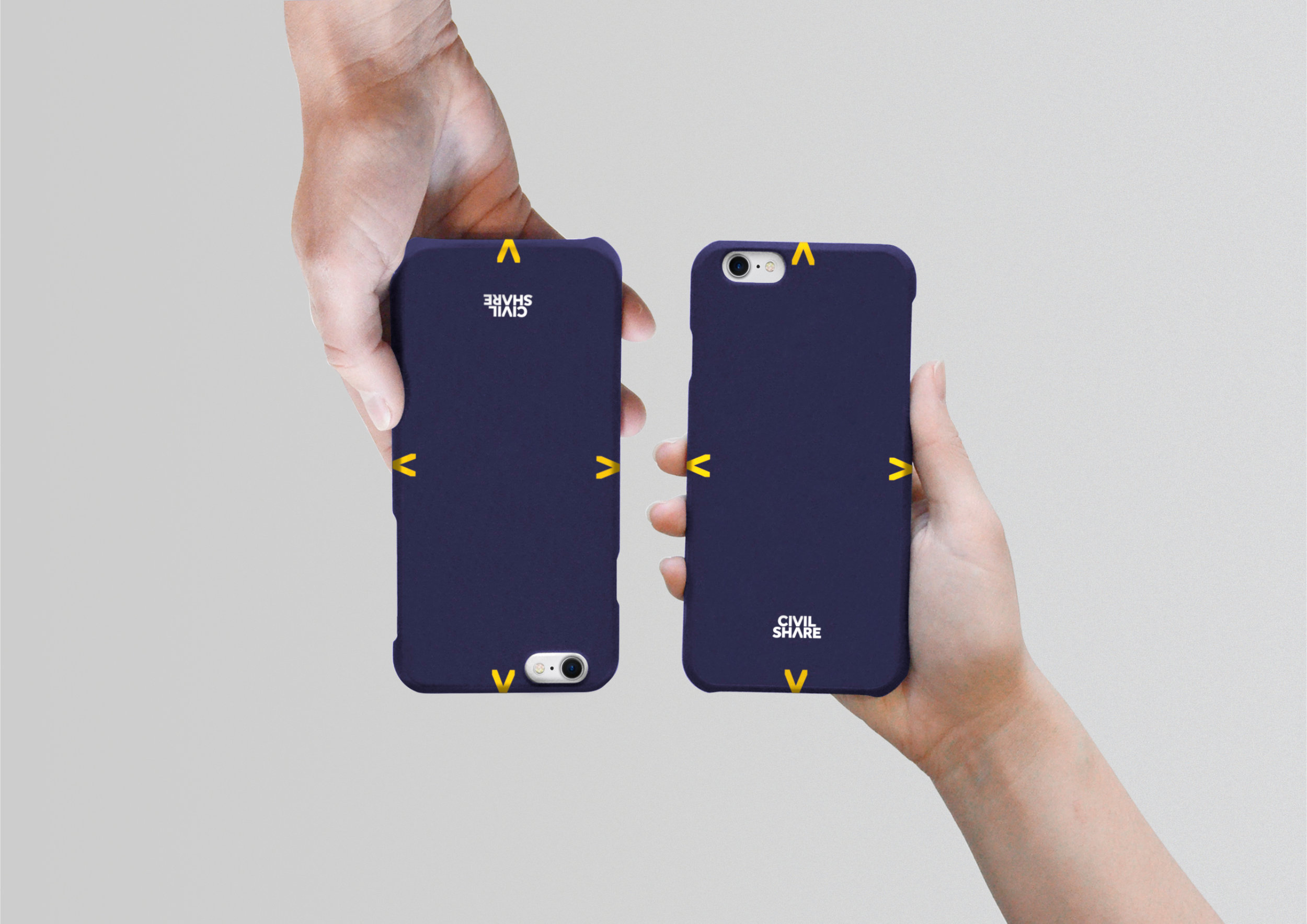 CivilShare promotional phone cases