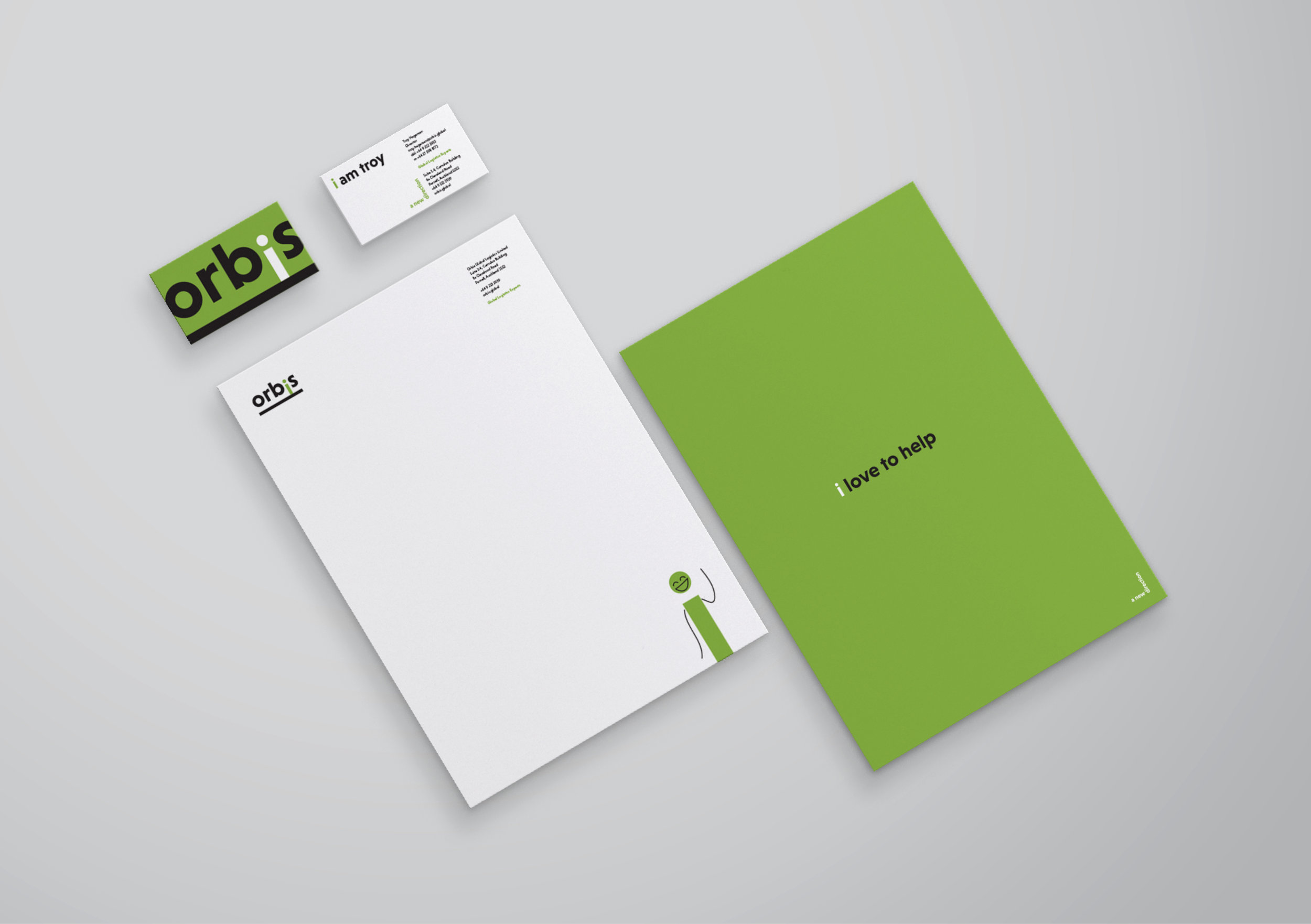 Orbis business stationery