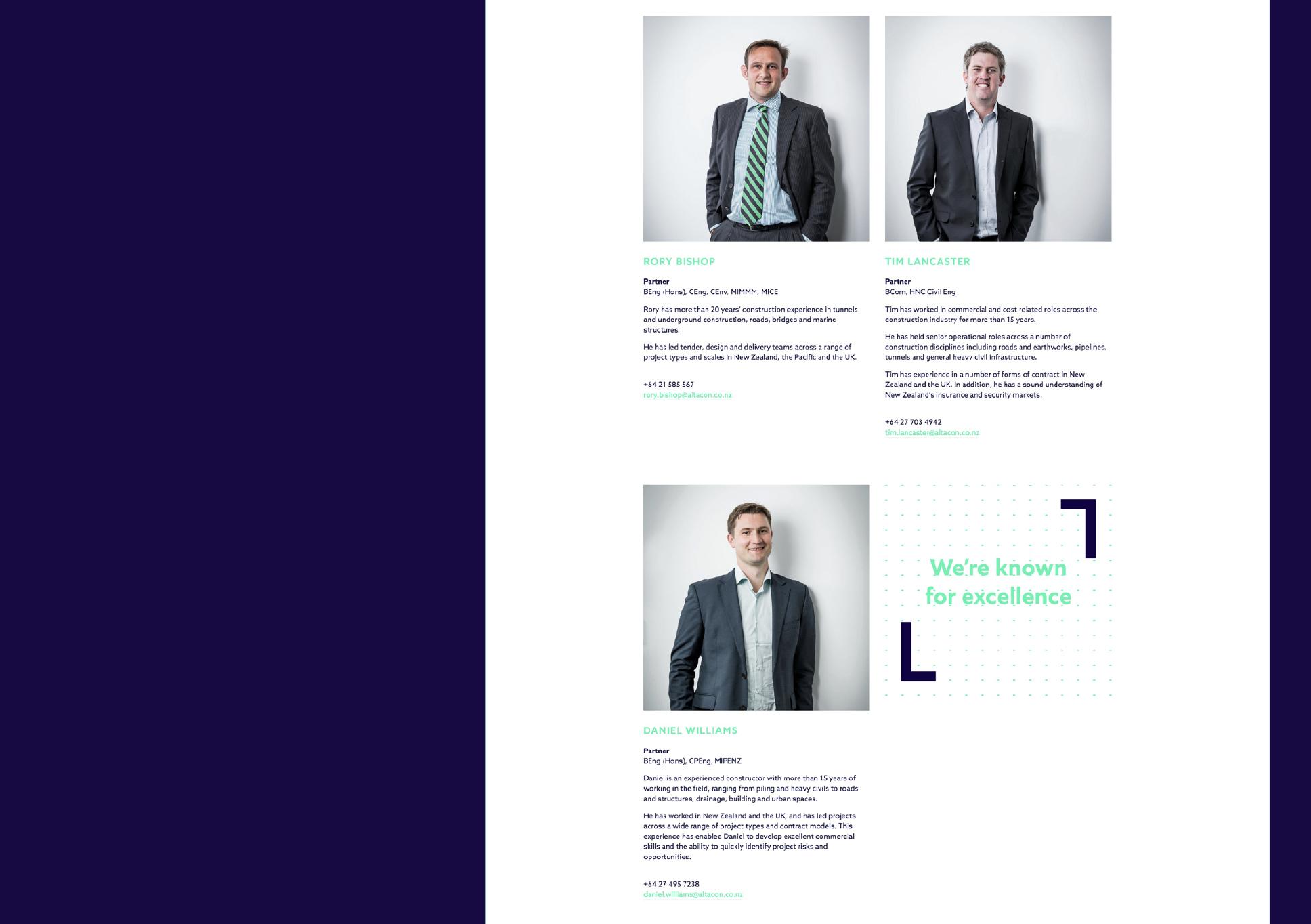 Alta team - Rory Bishop, Tim Lancaster, Daniel Williams