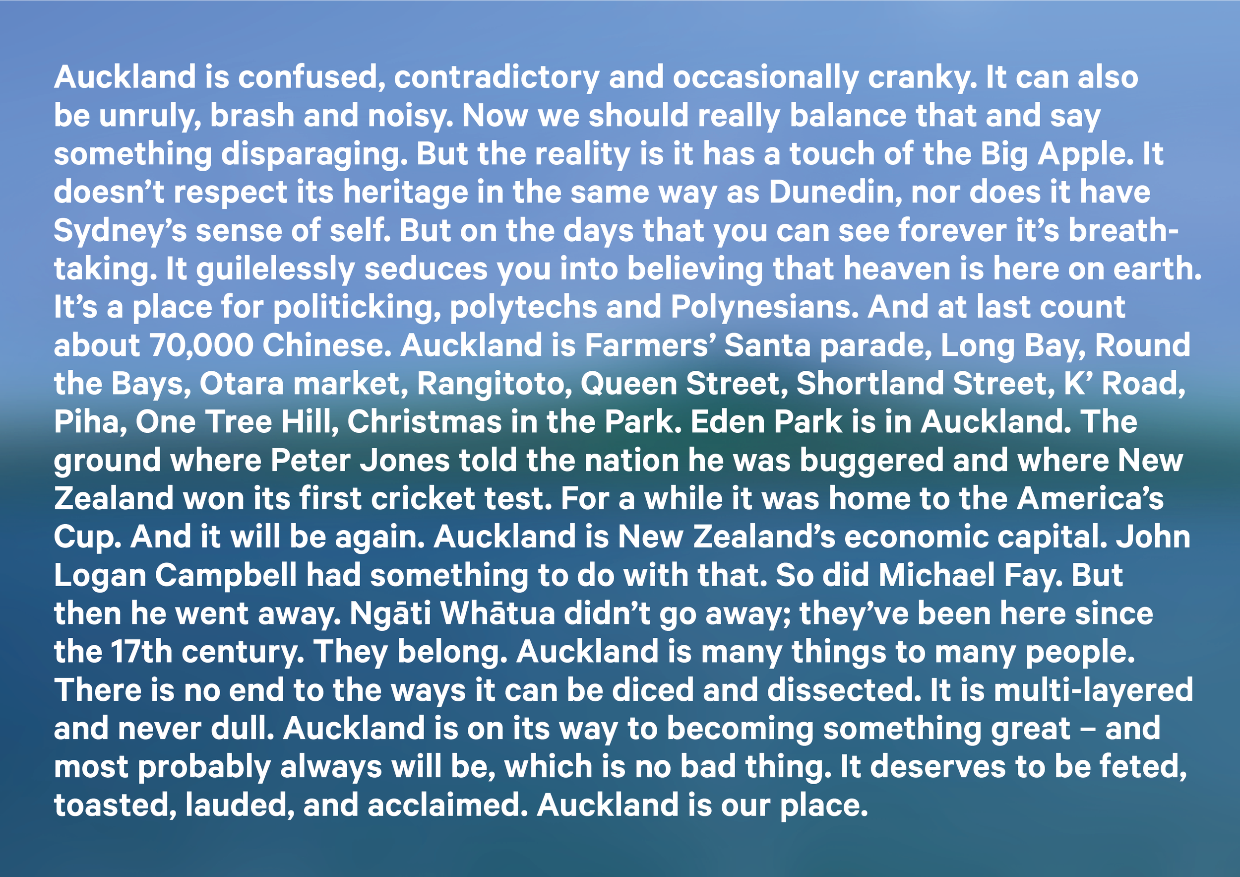 Auckland brand story