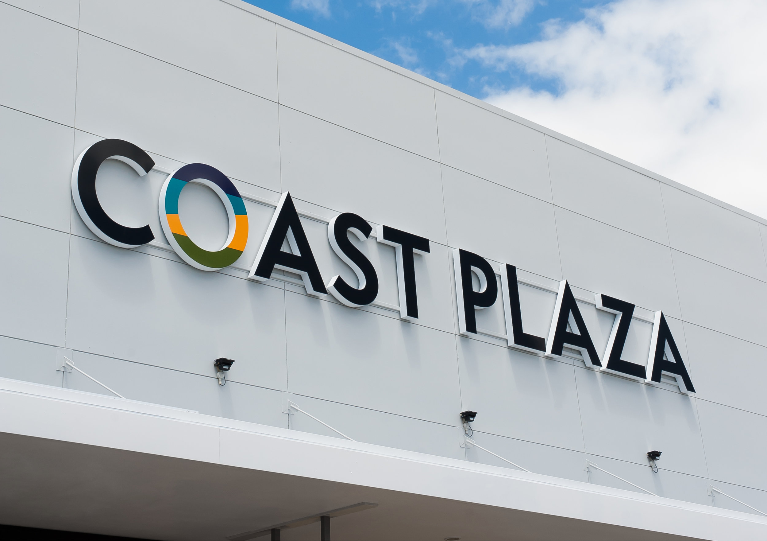 Coast Plaza exterior signage