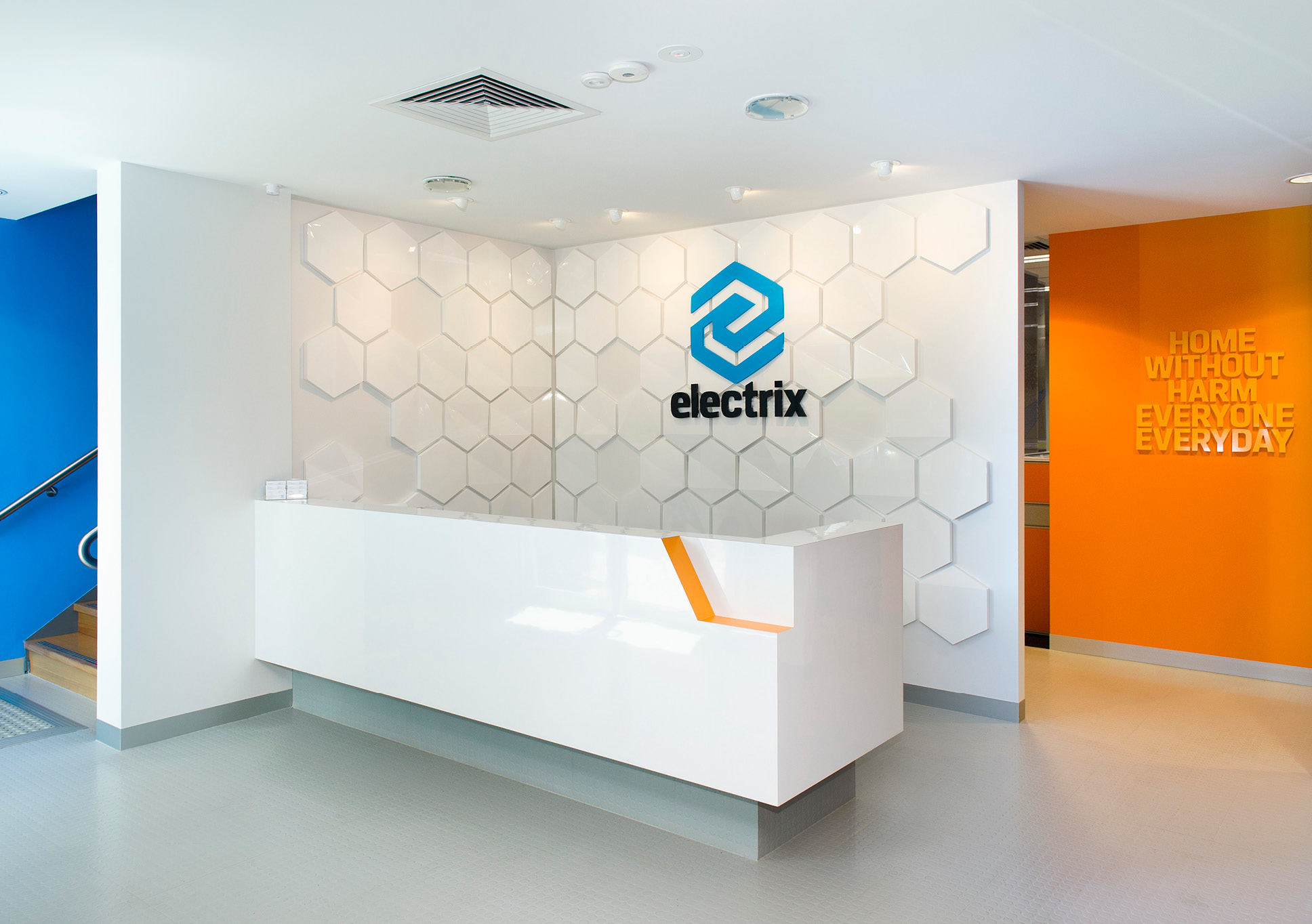 Electrix reception signage