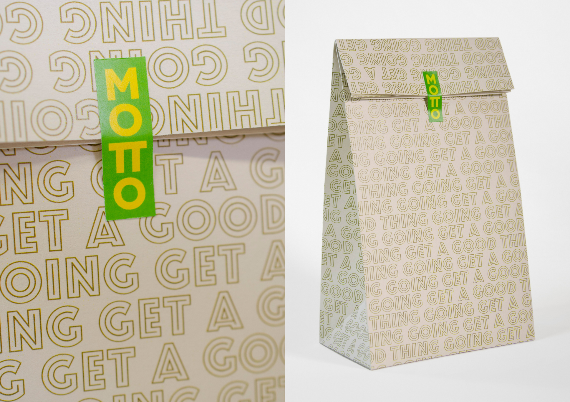 Motto paper packaging