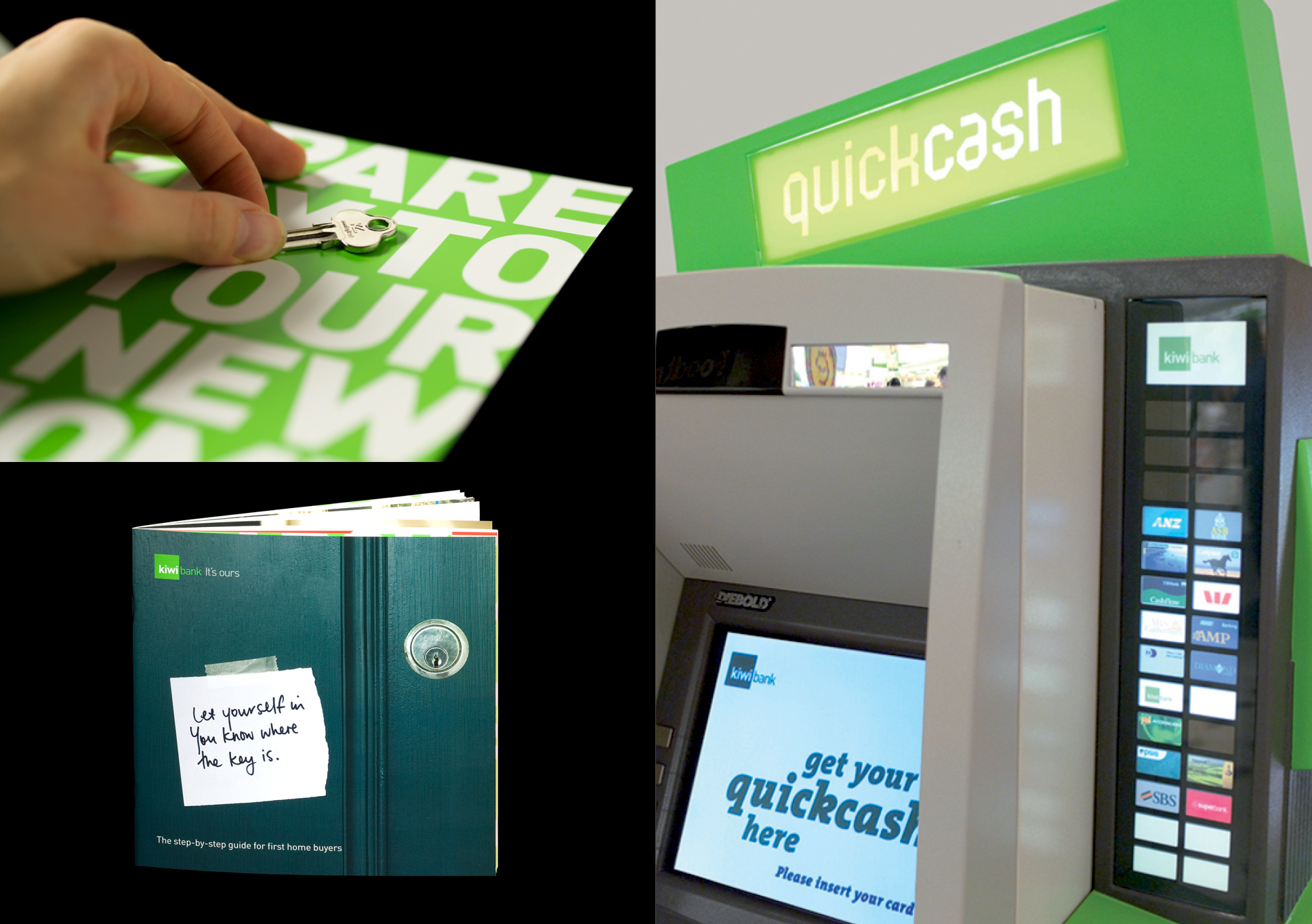 kiwibank ATM and booklet