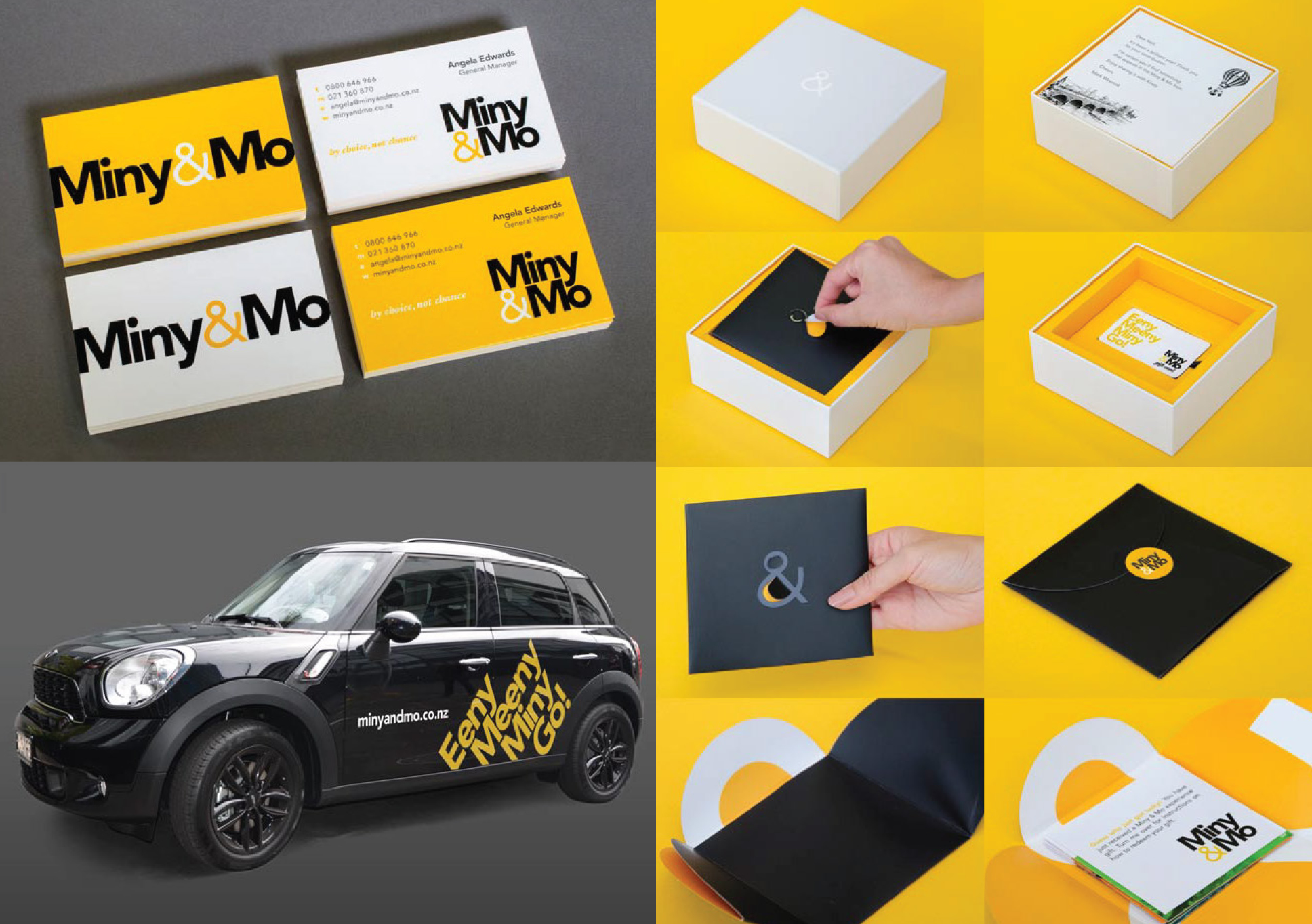 Miny&Mo vehicle graphics and packaging
