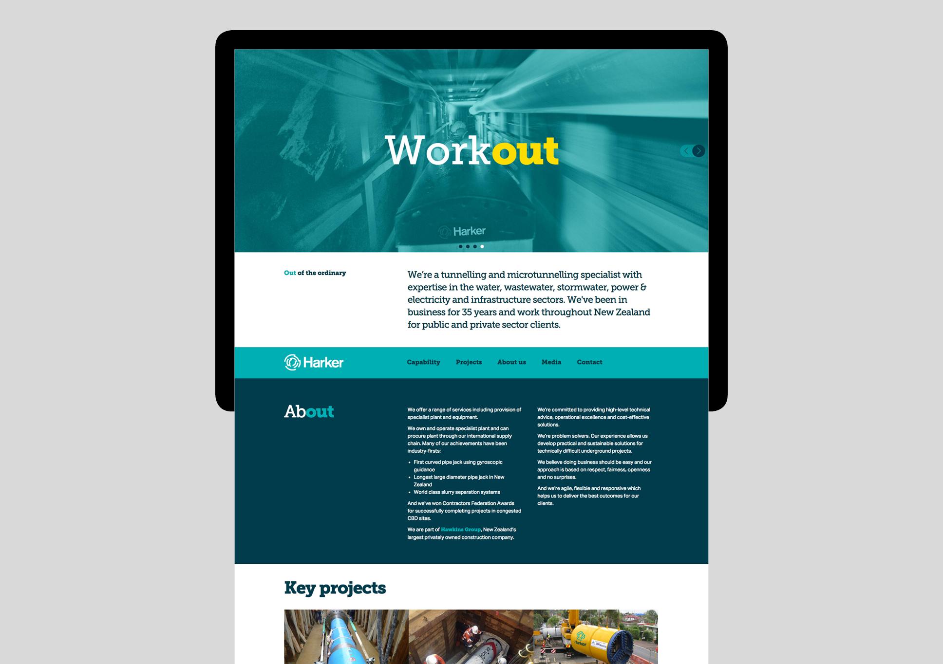 Harker website home page