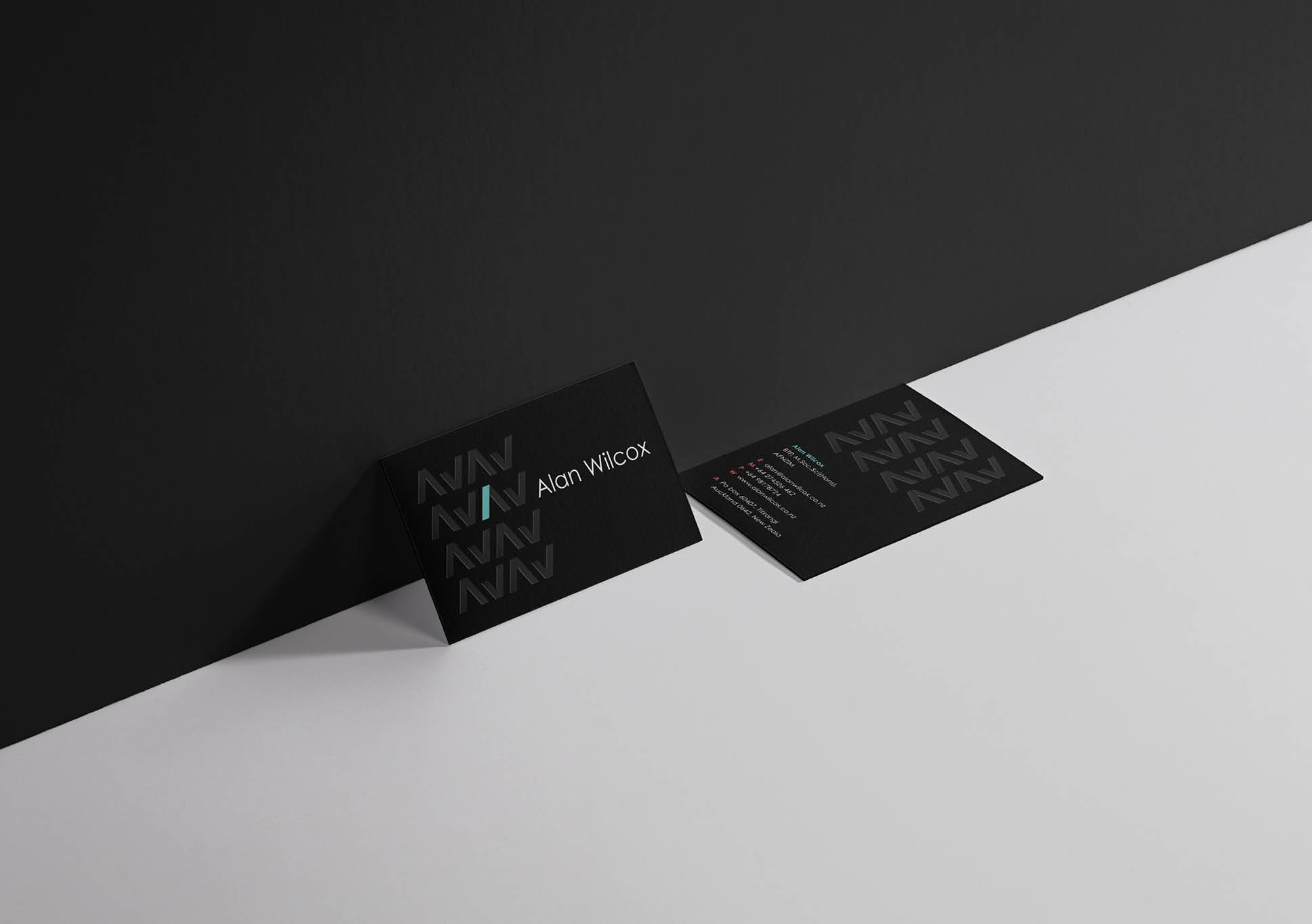 Alan Wilcox business cards