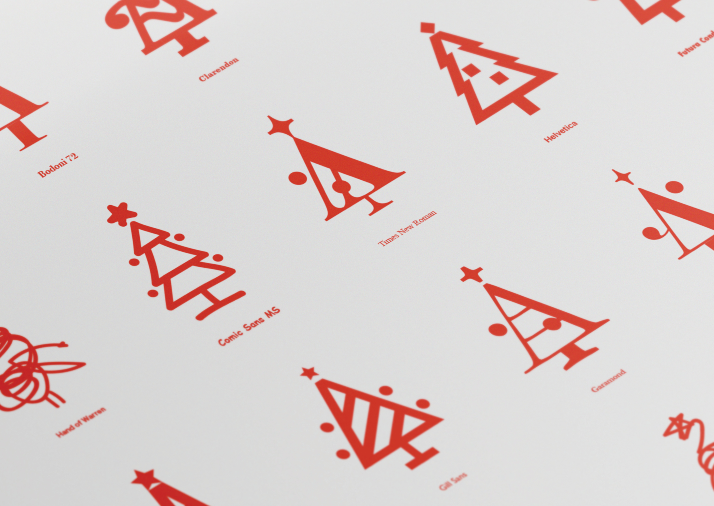 Glyph wrapping paper close up