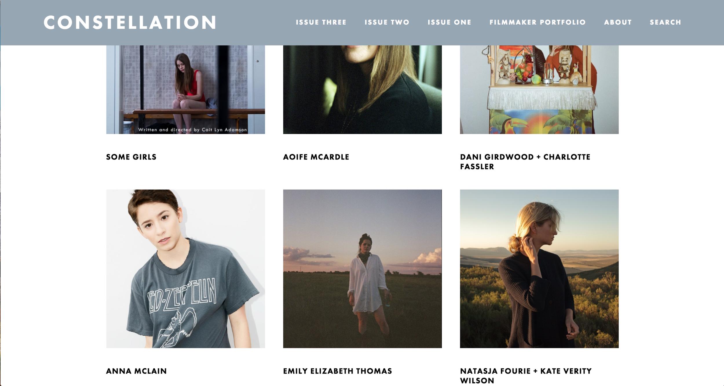 Constellation Mag | 2018 Filmmaker Portfolio -
