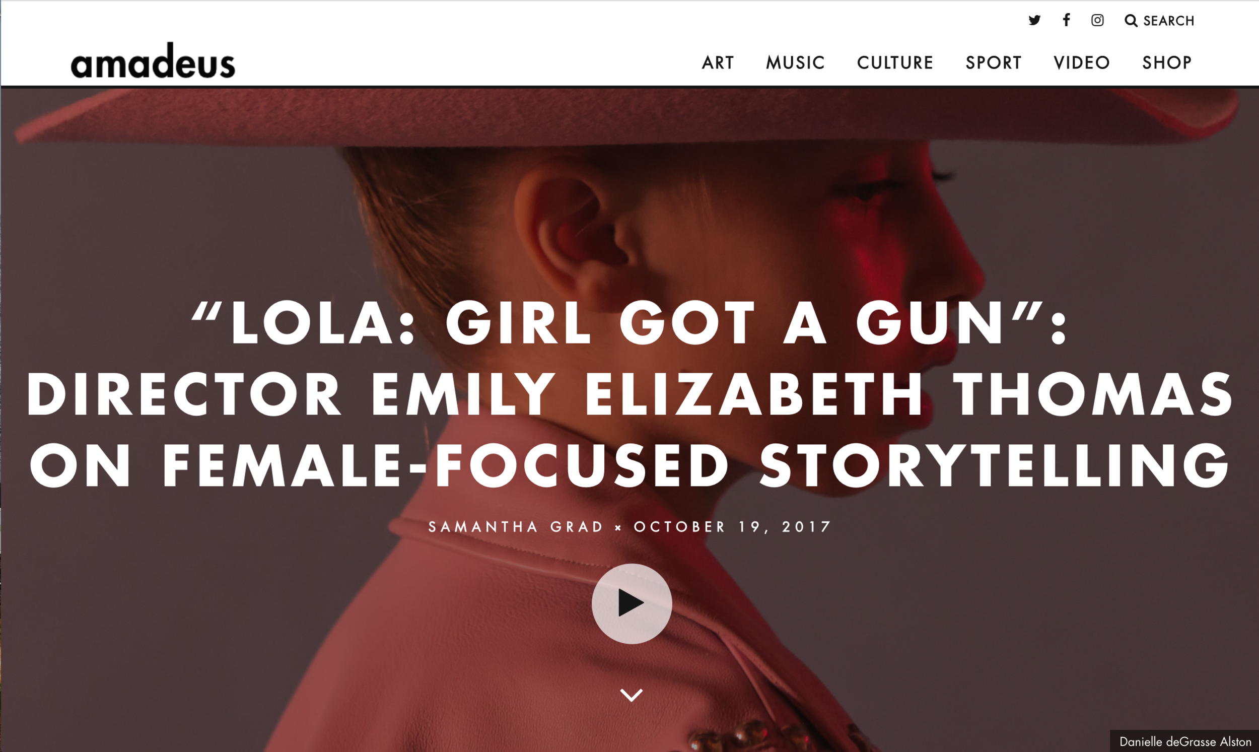 Amadeus Mag | Lola: Girl Got a Gun Trailer Premiere -