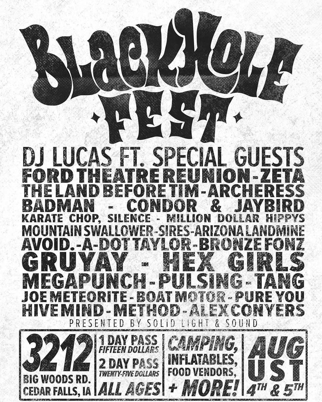 Black Hole Fest Flyer