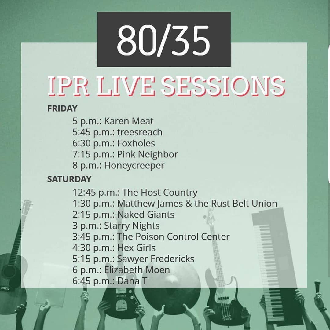 80/35 IPR Live Sessions Flyer