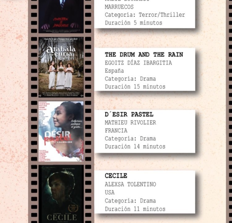Cecile is nominated at the Amazing Shorts Film Festival in Barcelona Spain! - …going global