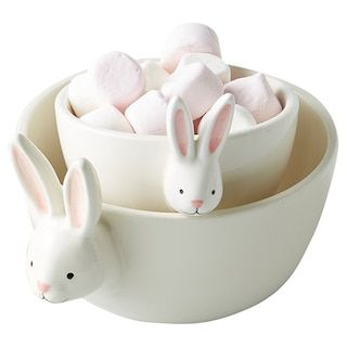 Bowl - bunny head set  Price: $5.00  Qty: 6