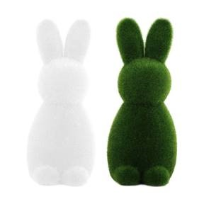Moss bunnies - green and white  Price: $3.00  Qty: 8