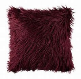 Fluffy cushion - burgundy  Price: $5.00  Qty: 4