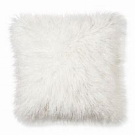 Fluffy cushion - white  Price: $5.00  Qty: 4