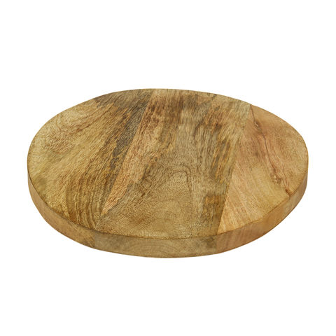 Round serving board - wooden  Price: $5.00  Qty:2