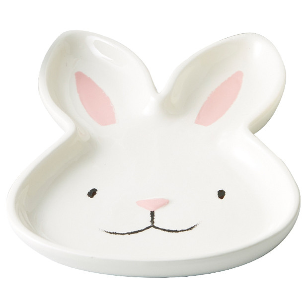 Plate - bunny head  Price: $2.50  Qty: 12