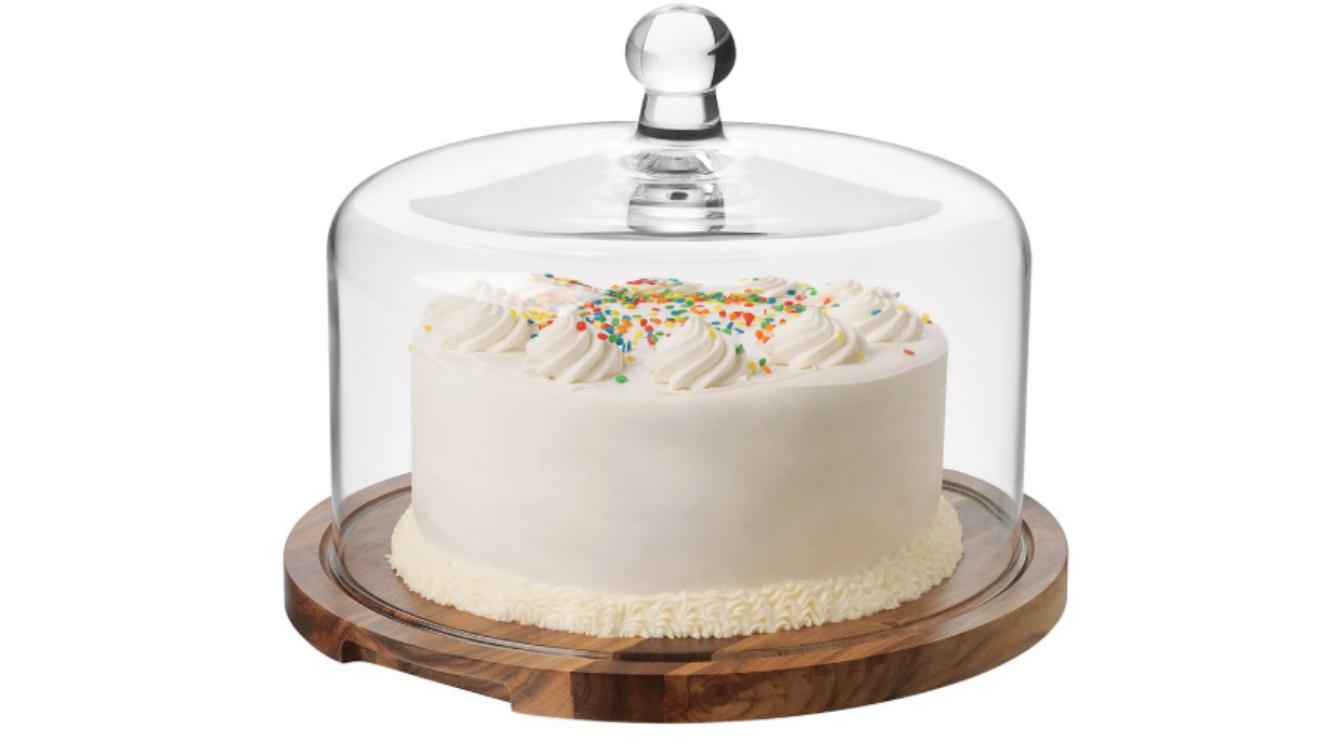 Cake glass dome  Price: $10.00  Qty: 1