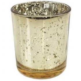 Gold votive - small  Price: $2.00  Qty: 24