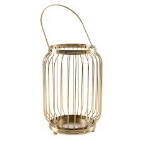 Metal lantern - gold  Price: $5.00  Qty: 12