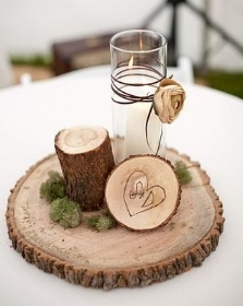 Wooden rounds - various sizes, raw & varnished  Price: $3.00 - $10.00  Qty: 37