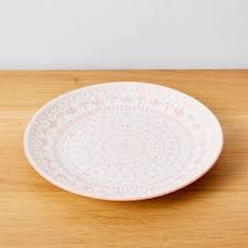 Side plate - pink pattern  Price: $1.00  Qty: 30