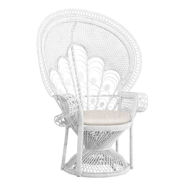 Peacock chair - white  Price: $75.00  Qty: 2