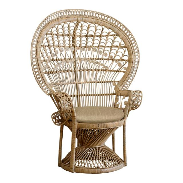 Peacock chair - natural  Price: $75.00  Qty: 2