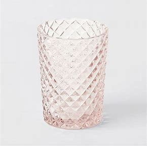 Pink glass tumbler - small  Price: $3  Qty: 12